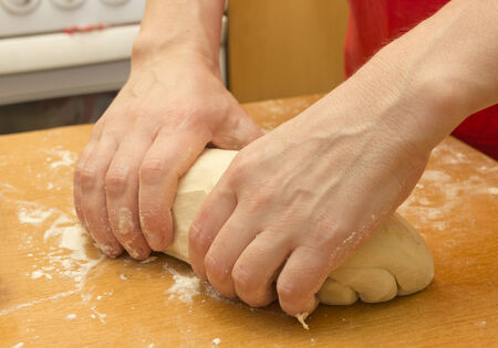 process of making cakes of dough photo