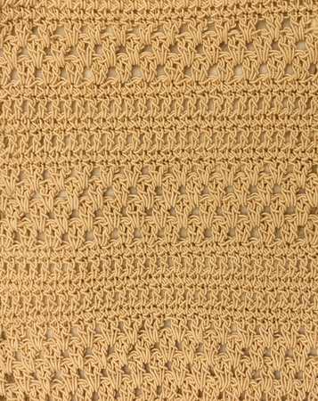 cable stitch: woven fabric with beautiful patterns Stock Photo