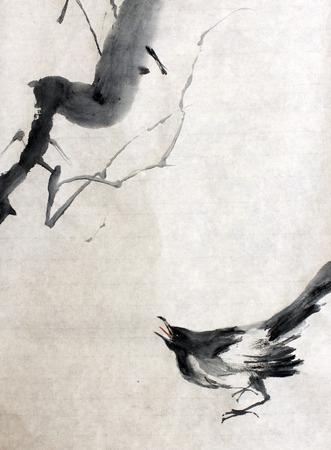 鴉と木の枝