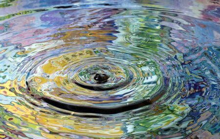 ripple effect: color reflection in the water