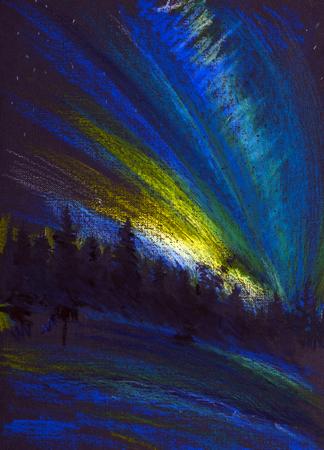 northern lights and polar night