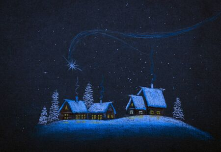 christmas night: Christmas star in the night sky