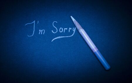 pathetic: apologies written in pencil on paper