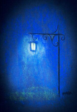 streetlamp: the bright light of a street lamp Stock Photo