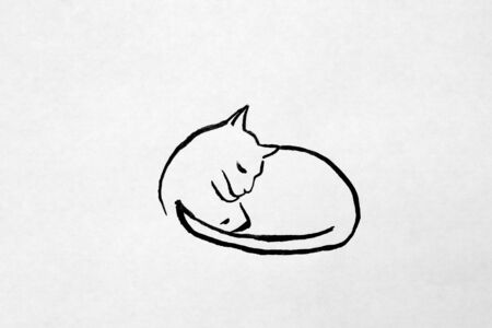 curledup: happy and peaceful sleeping cat