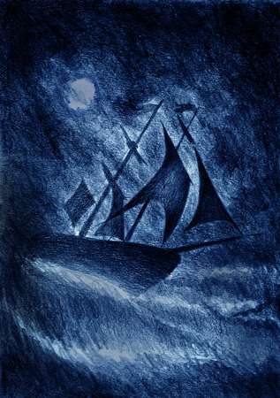 reverberation: sailing ship and a violent storm