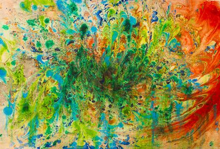 abstract paintings: chaotic abstract painting oil paintings