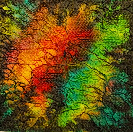 contrast: contrast and bright multicolored abstract painting