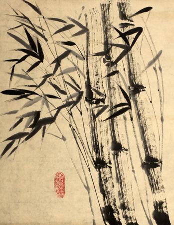 inner strength: strength of bamboo in his inner emptiness Stock Photo