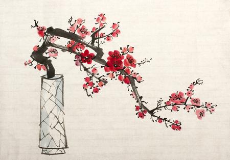 꽃병에 매 분기 꽃이 만발한 스톡 콘텐츠