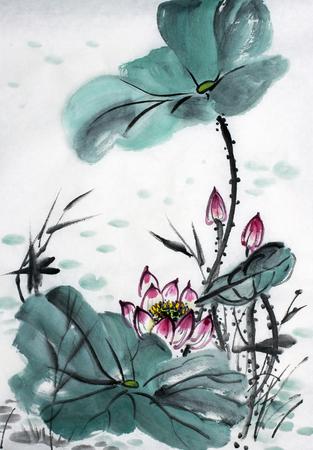 lotus symbool van het oosten Stockfoto