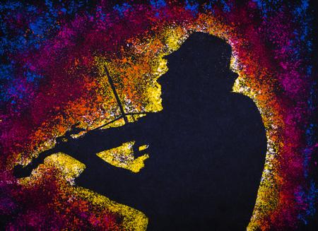 古いバイオリンは、宇宙の神音を作成します