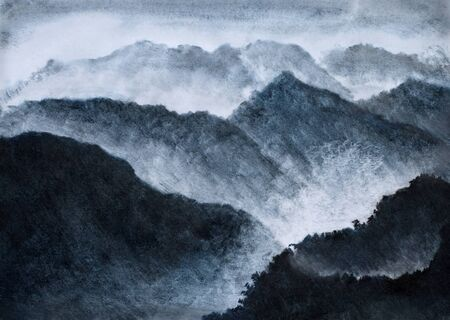 high and mystical misty mountains