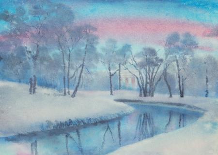 gentle winter morning in pavlovsk park