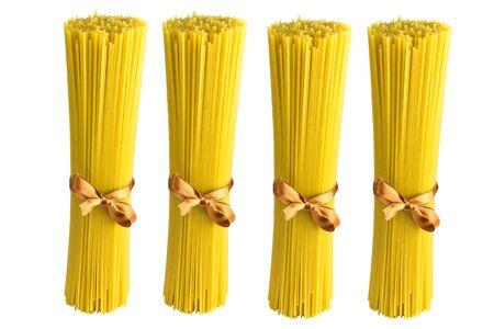 spaghetti italian pasta over white background