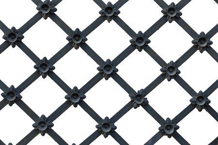 Black lattice on a white background