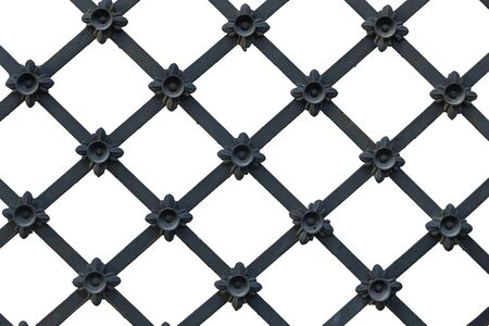 Black lattice on a white background