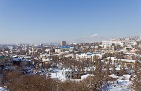 pyatigorsk: Pyatigorsk winter mountains in the background