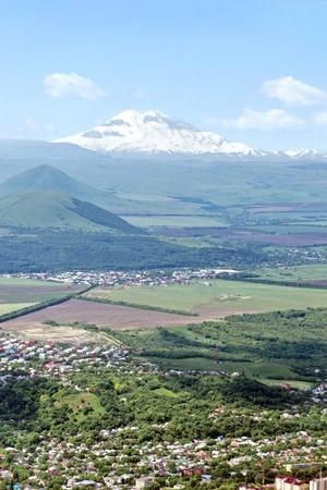 elbrus: View on Elbrus summit of Mount Mashuk