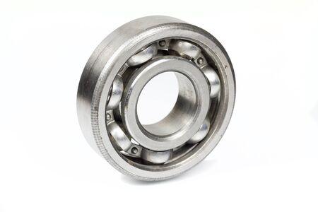 Ball bearing on white background  Stock Photo