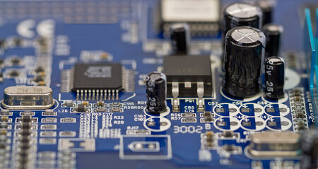 electronic components: Electronic board microchips and other components