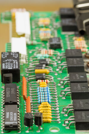 electronic components: The electronic board with mounted obsolete electronic components