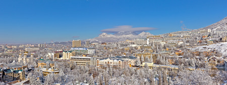 Panorama of winter in Pyatigorsk