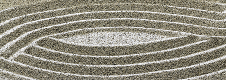 Lines on the sand creating a drawing.
