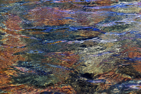 Texture of water surface reflecting sunlight.