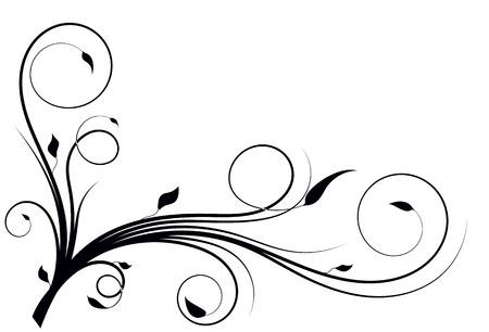 flourishing: Flourishing curves wall decoration