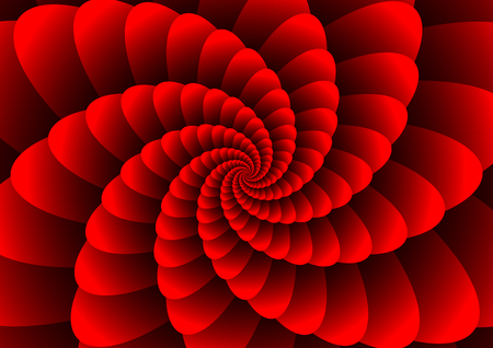 Red abstract spirals
