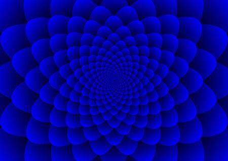 Floral spirals blue