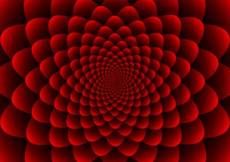 Floral spirals red