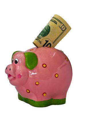 accumulations:   Piglet, money-box for money Stock Photo