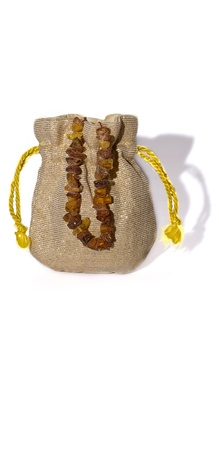 Sack with a gift for a girl