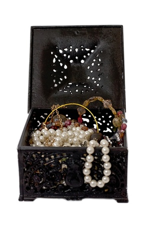 valuables: Treasure small box with valuables
