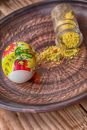 adorned: Adorned egg to the holiday