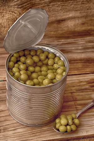 seminal: green peas Stock Photo