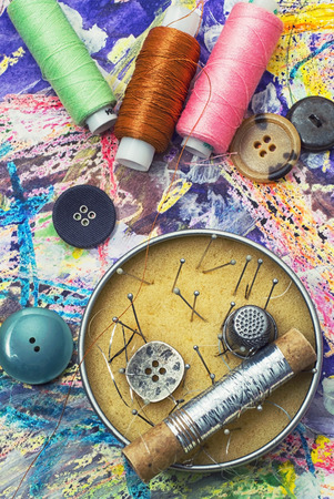 skillfully: sewing and needlework tools