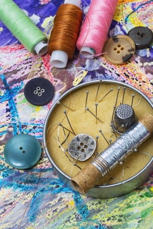 skillfully: needlework,embroidery and tools for it