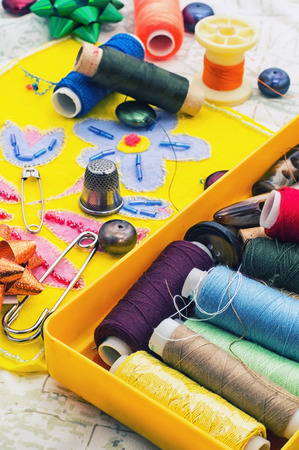 skillfully: several coils sewing accessories