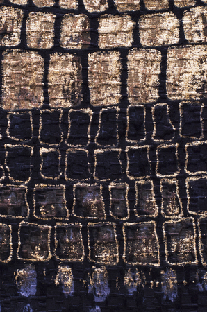 manually: cut manually woven textile fabric  Stock Photo