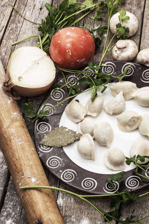traditional Ukrainian dish-Ukrainian dumplings  photo