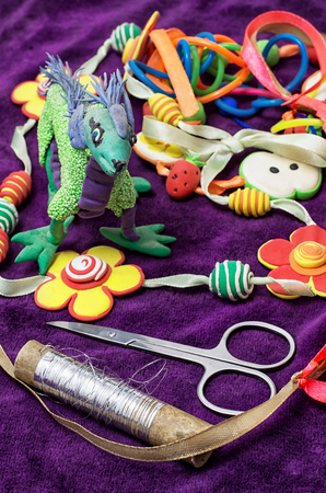 clay modeling: creative modeling child of colored clay