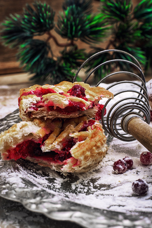 bakeware: sponge cake and Christmas characters to the new year holiday