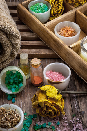 sooth: sea salt and accessories Stock Photo