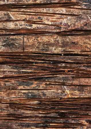 untreated: Vintage texture old untreated wood furrows.Photo tinted. Stock Photo