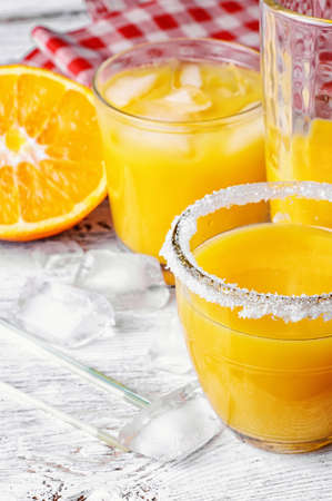 squeezed: Soft drink of squeezed orange flavored ice