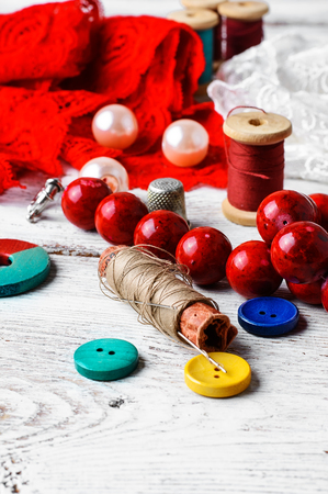 Lace, beads and thread working tools for craft