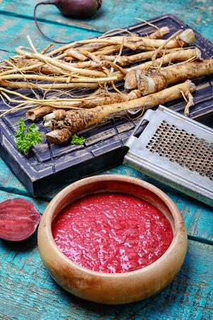 roots horseradish Stock Photo